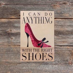 """❤️3/$30 Rustic tin """"shoes"""" sign."""